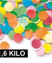 1 6 kilo carnavals confetti gekleurd