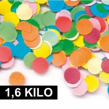 1,6 kilo carnavals confetti gekleurd