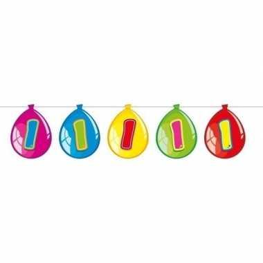 1 jaar leeftijd versiering ballon slinger 10 meter