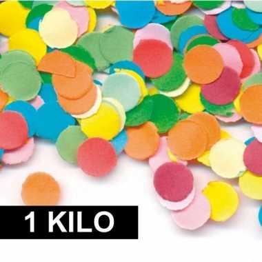 1 kilo carnavals confetti gekleurd