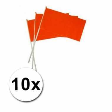 10 holland zwaaivlaggetje oranje