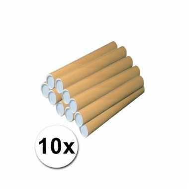 10 kartonnen knutsel cilinders 43x6 cm