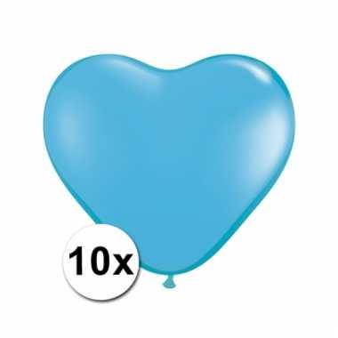 10 lichtblauwe harten ballonnen 15 cm