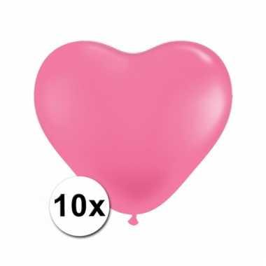 10 roze harten ballonnen 15 cm