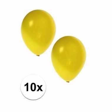 10 stuks metallic gele ballonnen 36 cm