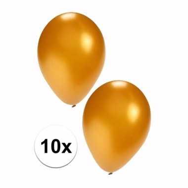 10 stuks metallic gouden ballonnen 36 cm