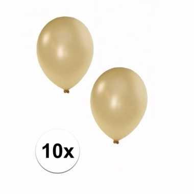 10 stuks metallic ivoor ballonnen 36 cm