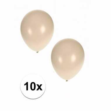 10 stuks metallic witte ballonnen 36 cm