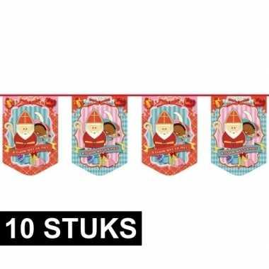 10 stuks sinterklaas slingers 10 meter