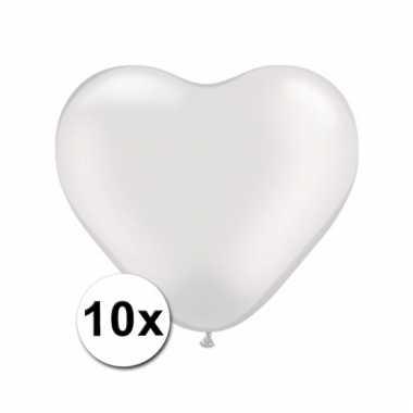 10 transparante harten ballonnen 15 cm