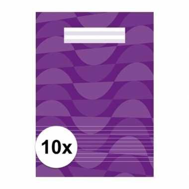 10 x voordelig paars schrift a4 met lijntjes