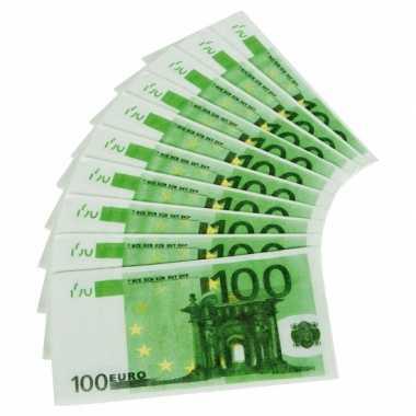 100 euro geldbundel servetten