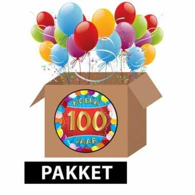 100 jaar feest versiering voordeelbox