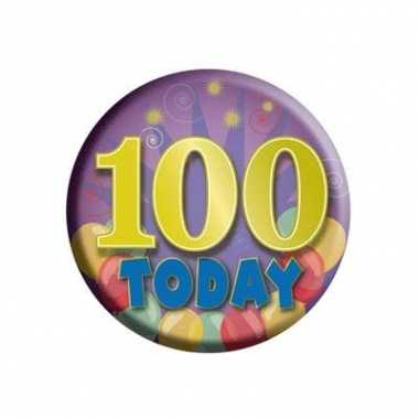 100 jaar today button