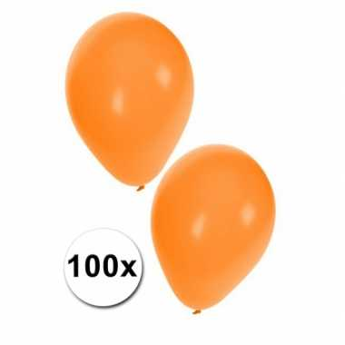 100 oranje feest ballonnen