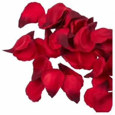 100x rode strooi rozenblaadjes 3 cm