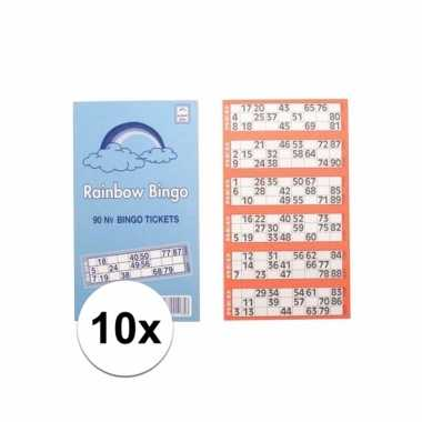 10x bingokaarten 1-90