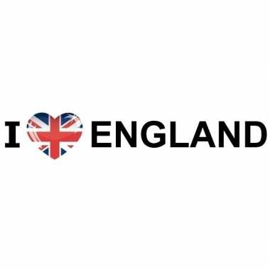 10x bumper sticker i love england