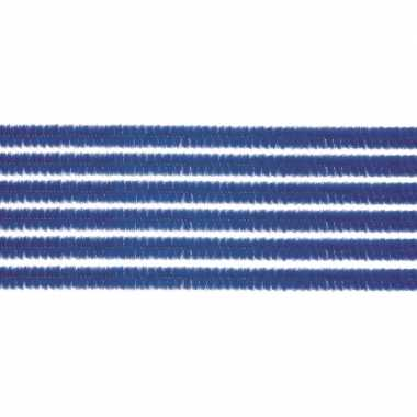 10x chenilledraad blauw 50 cm