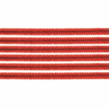 10x chenilledraad rood 50 cm