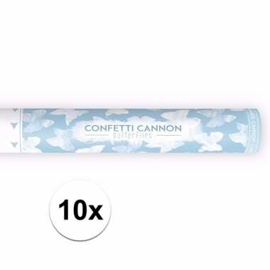 10x confetti popper vlinders 40 cm pakket