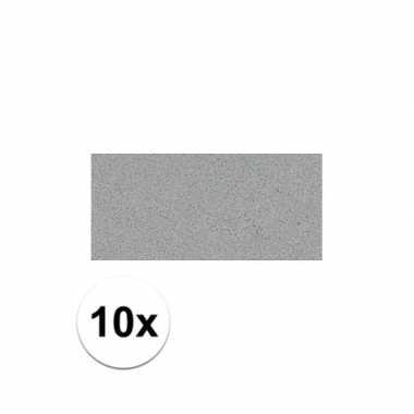 10x crepla plaat grijs 20 x 30 x 0,2 cm