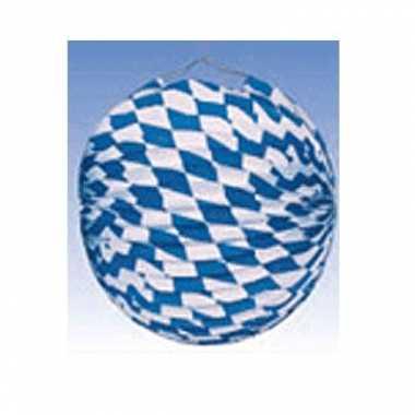 10x feest lampionnen blauw/wit 25 cm