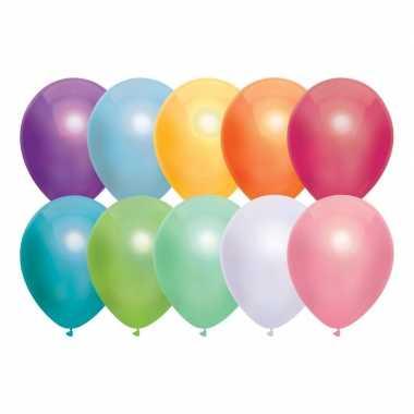 10x gekleurde metallic ballonnen 30 cm