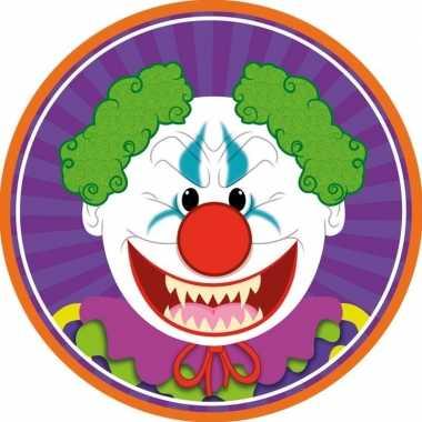 10x halloween onderzetters horror clown