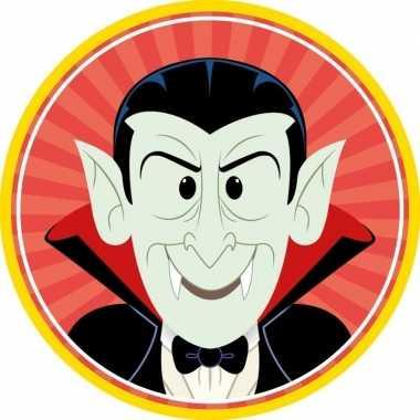 10x halloween onderzetters vampier/dracula