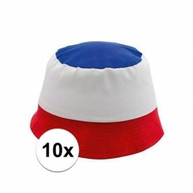 10x katoenen franse hoedjes