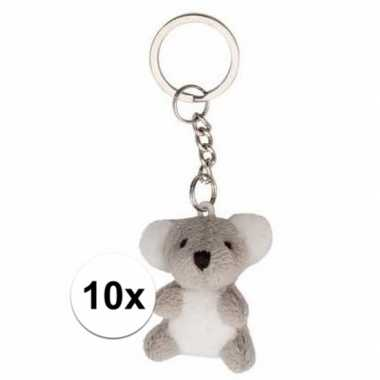 10x koala beer/beren sleutels hangers 6 cm