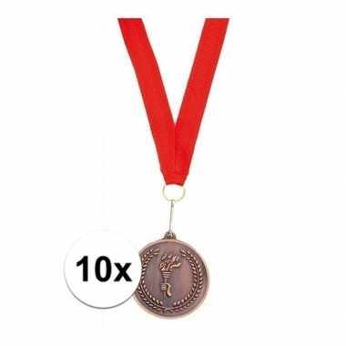 10x medailles met lint brons