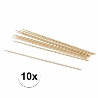 10x naturel knutselhoutjes 20 x 0,3