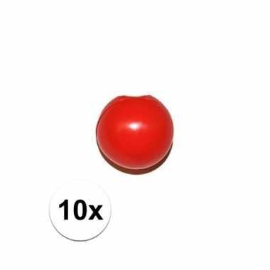 10x rode dichtknijp clownsneus