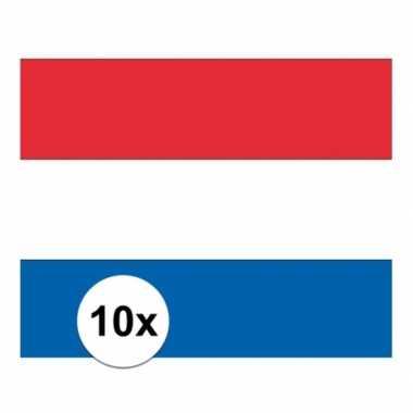 10x stickers nederland vlaggen