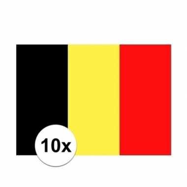 10x stuks stickers belgie vlaggen