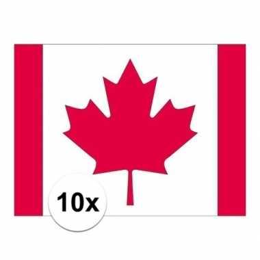 10x stuks stickers canada vlaggen