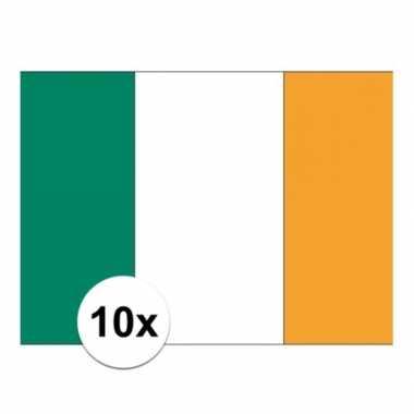 10x stuks stickers ierland vlaggen