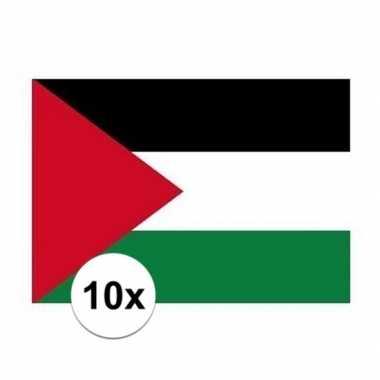 10x stuks stickers palestijnse vlaggen
