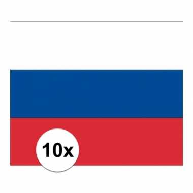 10x stuks stickers rusland vlaggen