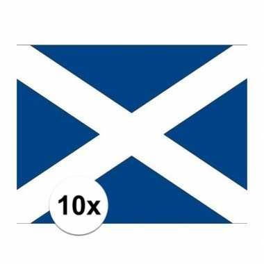10x stuks stickers schotland vlaggen
