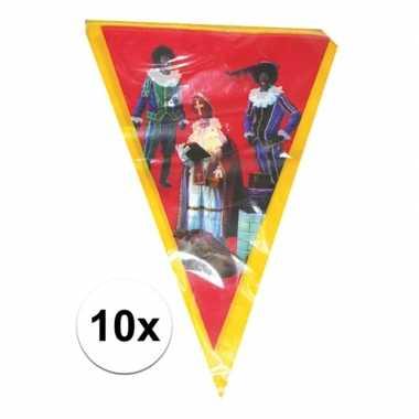 10x vlaggenlijn sinterklaas sint en piet 5 meter