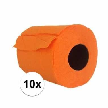 10x wc rol oranje