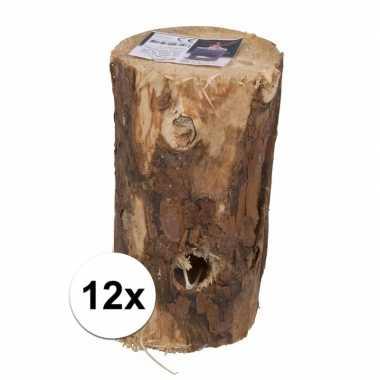 12 stuks zweedse boom fakkels 20 cm