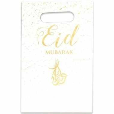 12x eid mubarak thema feestzakjes/uitdeelzakjes 23 x 17 cm
