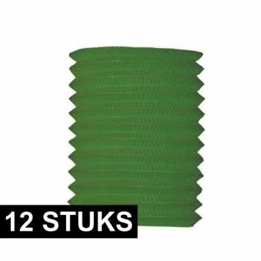 12x treklampion groen 16 cm diameter