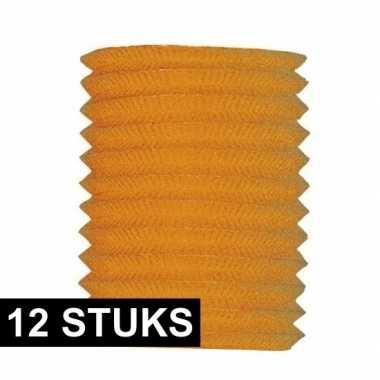 12x treklampion oranje 16 cm diameter