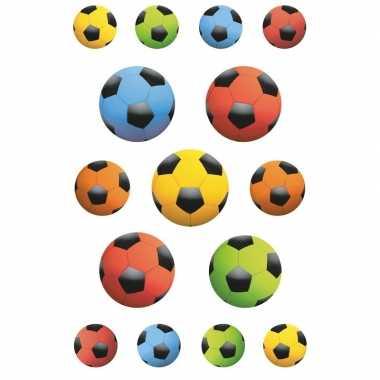135x gekleurde voetballen stickers