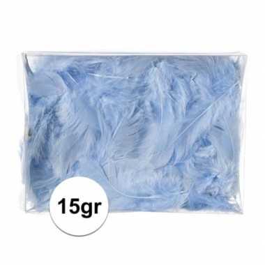 15 gram blauwe decoratie dons veren